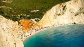 Porto Katsiki Beach In Lefkada Island, Greece