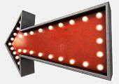 Vintage Red Arrow Sign