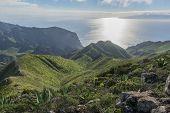 Mountains On Tenerife And Sea