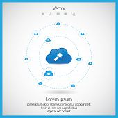 Cloud computing technology design, vector illustration