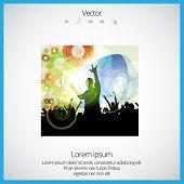 Dancing people. Vector illustration