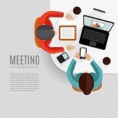 Concept Of Business Meeting, Brainstorming, Teamwork, Vector