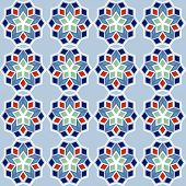 Ornamental Seamless Pattern, Arabic Or Nordic Tile Style, Vector
