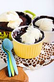 Rum And Raisin Chocolate Puddings