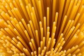 foto of spaghetti  - Uncooked pasta spaghetti macaroni isolated on white background - JPG