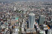 A vista de pájaro de Tokio
