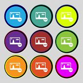 Minus File Jpg Sign Icon. Download Image File Symbol. Set Colourful Buttons. Modern Ui Website Navig