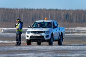 NIZHNY NOVGOROD. RUSSIA. FEBRUARY 17, 2015. Service of aviation safety