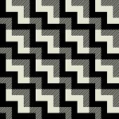 art black graphic geometric seamless pattern, square background with tiled ornament in art deco style
