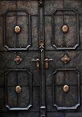 Old metal door detail in Salzburg, Austria, Europe