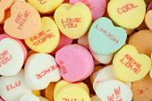 Conversation Hearts Candy For Valentines Day