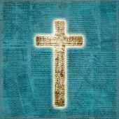picture of holy-spirit  - Glowing holy cross on abstract paper background - JPG