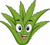 foto of aloe-vera  - Mascot Illustration of an Aloe Vera Smiling Happily - JPG