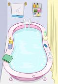 picture of bath tub  - Background Illustration of a Bath Tub Filled With Water - JPG