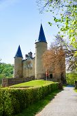 Castle of Veves during day in summer, Belgium