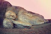 Sleeping buddha. Polonnaruwa, Sri-Lanka
