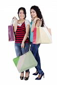 Lovely Girls With Shopping Bags