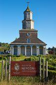 Historic Church of Nercon on Chiloé Island