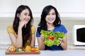 Pretty Girls With Healthy Food