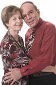 Senior Couple Isolated on a white Background