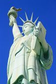 Las Vegas, Usa - March 19: Replica Of Statue Of Liberty At New York - New York Hotel And Casino On M