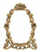 Oval Gold Picture Frame with Flowers