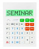 Calculator With Seminar