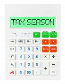 Calculator With Tax Season