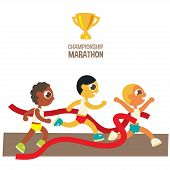 male championship marathon runners