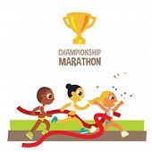 women championship marathon runners