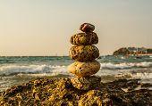 Rocks on the coast of sea