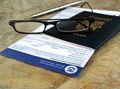 Canada passport on declaration card
