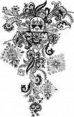 paisley skull tattoo