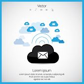 Cloud computing concept, vector