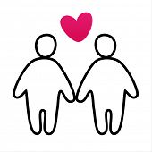 couple in love -  vector icon