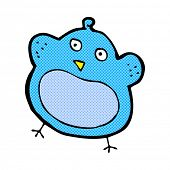retro comic book style cartoon fat bird