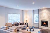Interior design of a luxury living room