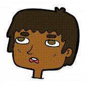 retro comic book style cartoon unhappy face
