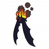 retro comic book style cartoon spooky bat