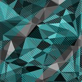 Abstract Monochromatic Geometrical Image. Cute Illustration For Print And Web. Artistic Digital Poly