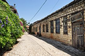 foto of cornerstone  - Rosh Pinna town located in the Upper Galilee on the Northern District of Israel - JPG