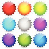 image of starburst  - Blank starburst shapes price flashes - JPG