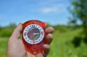image of compasses  - Compass in hand - JPG