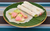 foto of candy cotton  - Thai cotton candy burrito pancake Name thai  - JPG