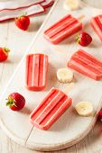 pic of popsicle  - Homemade Strawberry and Banana Popsicles on a Stick - JPG