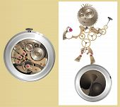Mechanical watch-men