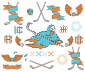picture of bundle  - Vector Ice Hockey bundle for any use - JPG