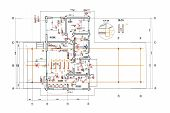 picture of blueprints  - floor plan blueprints engineering and architecture drawings - JPG