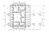 pic of blueprints  - floor plan blueprints engineering and architecture drawings - JPG