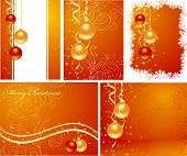 Set Christmas Backgrounds